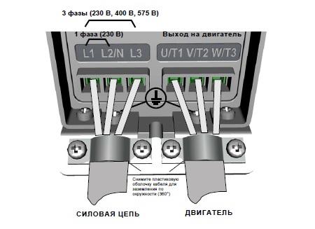 Подключение Vacon 0010 M1