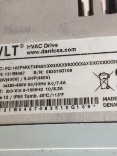 Преобразователи частоты Danfoss серия VLT HVAC Drive FC 102 для насосов модель FC-102P4K0T4