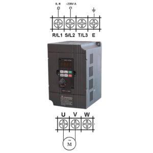 Однофазный частотный преобразователь схема подключения или как подключить однофазный двигатель к частотнику