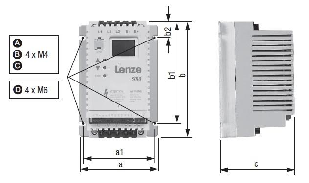 Размеры Lenze smd