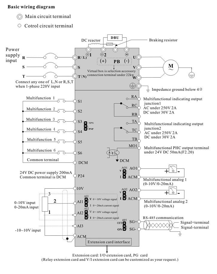 IDS Drive серия B схема подключения преобразователя частоты
